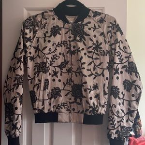 LF Seek The Label silk bomber sz Small